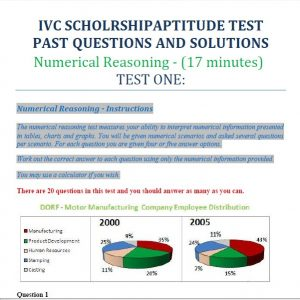 IVC Scholarship Past Questions and Answers PDF Download - Up to Date